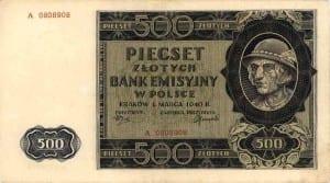 Banknot o nominale 500 zł. Od niego wzięła się nazwa akcji. Fot.: commons.wikimedia.org