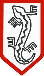 Symbol Związku Jaszczurczego, często używanego przez żołnierzy NSZ. Autor Cassubia1238