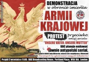 Plakat promujący protest