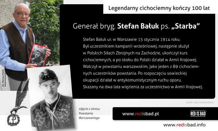 """Legendarny cichociemny gen. bryg. Stefan Bałuk ps. """"Starba"""" kończy 100 lat"""