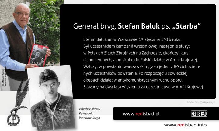 """Nie żyje gen. Stefan Bałuk ps. """"Starba"""". Cichociemny i uczestnik Powstania Warszawskiego"""