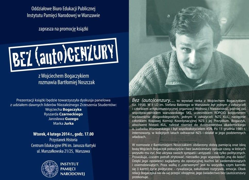 """Prezentacja książki IPN """"Bez (auto)cenzury"""