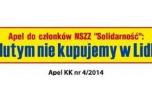 Solidarność zbojkotuje Lidla