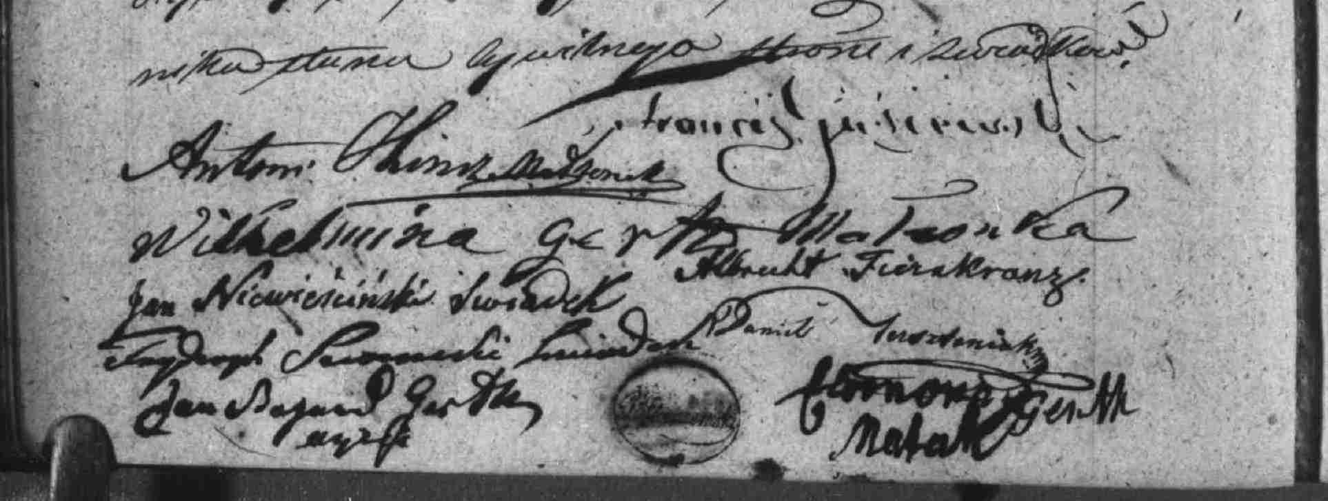 Akt ślubu Antoniego Hinicza z Emilią Gerth(3)