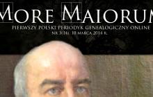 Marcowy numer miesięcznika genealogicznego More Maiorum!