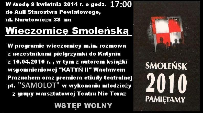 Wieczornica Smoleńska w Tarnowie