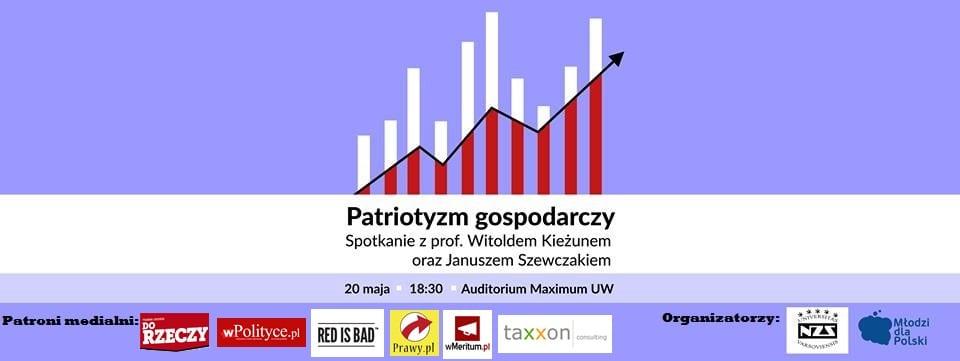 Warszawa: Patriotyzm gospodarczy. Spotkanie z prof. Kieżunem
