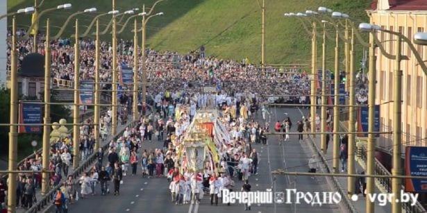 Boże Ciało w Grodnie. Imponująca procesja katolików [WIDEO]