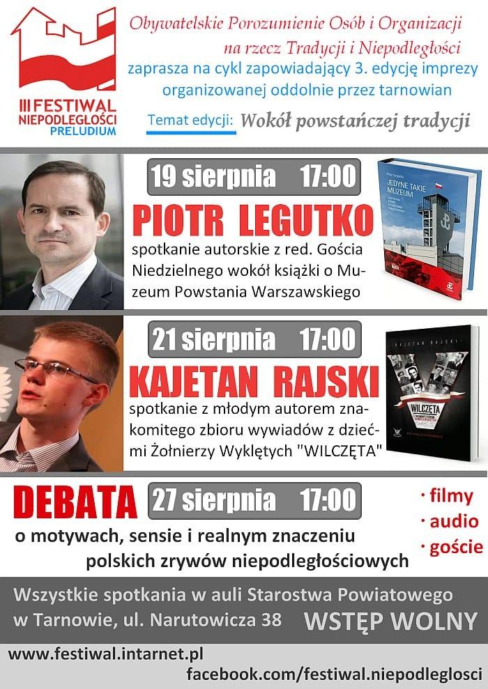 """Rusza """"powstańcza"""" edycja Festiwalu Niepodległości w Tarnowie"""