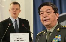 Warszawa: Spotkanie ministrów obrony Polski i Chin