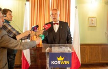 Janusz Korwin-Mikke przedstawił w Krakowie swój projekt Konstytucji RP