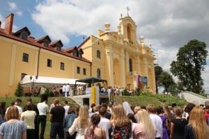 Kompleks klasztorno-kościelny, remontowany za pieniądze Senatu i MSW