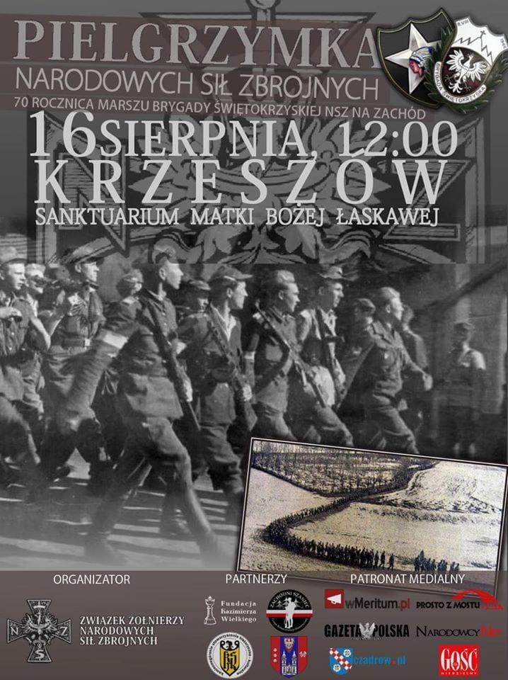 plakat Pielgrzymka NSZ Krzeszów