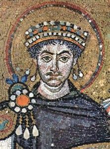 Fot.: Mozaika przedstawiająca Justyniana I. The Yorck Project: 10.000 Meisterwerke der Malerei/commons.wikimedia.org
