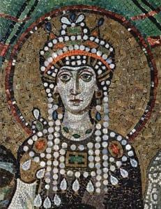 Fot.: Mozaika przedstawiająca Teodorę.he Yorck Project: 10.000 Meisterwerke der Malerei/commons.wikimedia.org