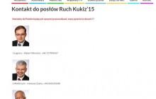 Posłowie ruchu Kukiz'15 ujawnili numery swoich telefonów.