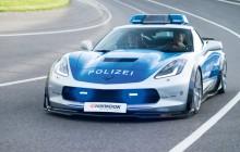 Corvette C7 w barwach niemieckiej policji