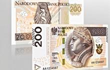 Od lutego NBP wprowadza nowe banknoty 200 zł