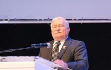 Lech Wałęsa na spotkaniu w Legnicy: Musimy być odpowiedzialni, bo oni będą strzelać