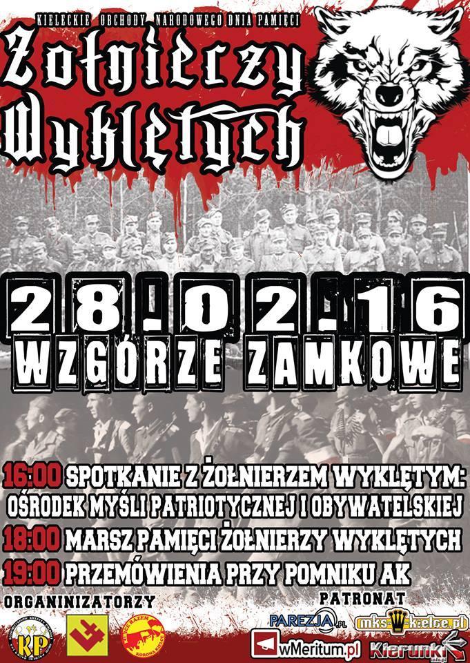 Plakat Kielce Zołnierze Wyklęci