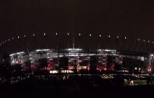 Napis w hołdzie Cichociemnym na fasadzie Stadionu Narodowego [WIDEO]