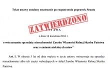 Ustawa o handlu ziemią czeka na podpis Prezydenta. Sejm uwzględnił poprawki Senatu