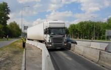 Zakleszczona Scania w Poznaniu