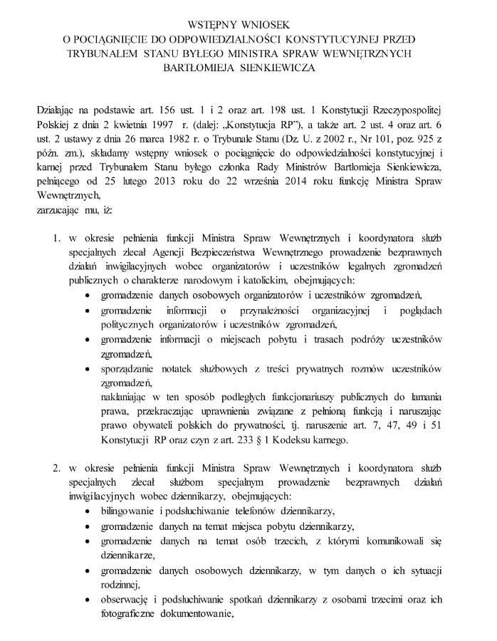 wniosek sienkiewicz