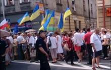 Starcia podczas marszu Ukraińców w Przemyślu.