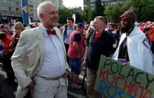 Korespondent Polsat News cytuje wypowiedź JKM-a w Moskwie.