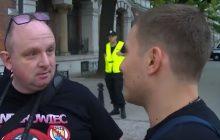 Spięcie Polaków z Ukraińcem pod ukraińską ambasadą.