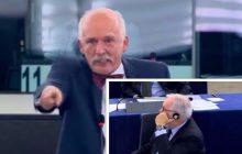 Janusz Korwin-Mikke obnaża hipokryzję Unii Europejskiej.