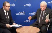 Lech Wałęsa przerywa wywiad w Radiu Szczecin.