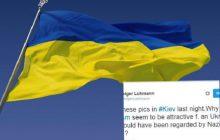 Chichot historii? Niemiecki dziennikarz opublikował zdjęcie Ukraińca. Był owinięty w hitlerowską flagę [FOTO