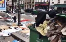 Dramatyczny film z paryskiej dzielnicy, w której mieszkają imigranci. Tony śmieci i ludzie leżący na ulicach [WIDEO]