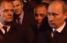 Archiwalne nagranie ze Smoleńska. Tusk z Putinem na miejscu katastrofy TU-154 [WIDEO]