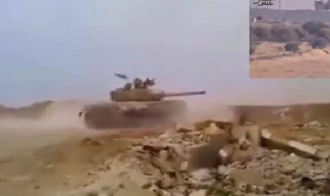 Niesamowite wideo z Syrii. Czołg ominął dwa pociski przeciwpancerne [WIDEO]