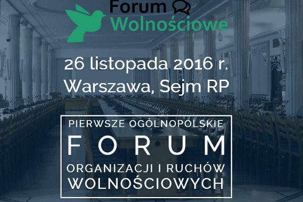 I Ogólnopolskie Forum Organizacji i Ruchów Wolnościowych