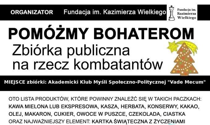 W Lublinie ruszyła zbiórka żywności dla kombatantów