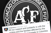 Futbolowy świat łączy się w bólu po katastrofie samolotu z drużyną Chapecoense na pokładzie. Kluby przesyłają kondolencje
