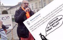 Bulwersujący obrazek na profilu Mateusza Kijowskiego. Satyra czy profanacja?