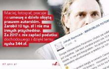 Fotoreporter odpowiada na infografikę Ministerstwa Finansów.