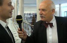 Dziennikarze strajkują, więc wywiady przeprowadzają politycy. Janusz Korwin-Mikke... przepytał reportera
