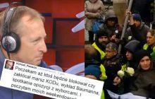 Dziennikarz odpowiada broniącym akcję Obywateli RP.