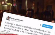 Krzysztof Bosak skomentował tragedię i zamieszki w Ełku. Zarzucono mu rasizm