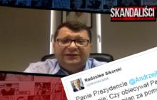 Sikorski komentuje rewelacje Stonogi i domaga się wyjaśnień od prezydenta