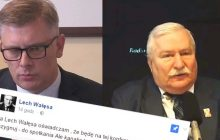 Cenckiewicz odwołał wykład dotyczący Wałęsy. Były prezydent odpowiedział.