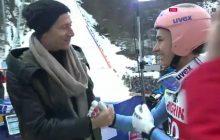 Lewandowski prawdziwą gwiazdą konkursu w Oberstdorfie. Zobacz radość Krafta po spotkaniu z napastnikiem Bayernu! [WIDEO]