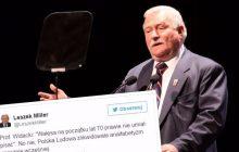 Wałęsa nie podpisywał donosów, bo... był analfabetą? Leszek Miller oraz polski pisarz wyśmiewają linię obrony byłego prezydenta