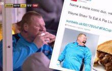 Bramkarz amatorskiej drużyny zdradził dlaczego jadł kanapkę podczas meczu z Arsenalem. Może zostać ukarany!